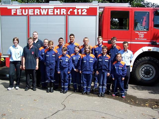 Jahresübung der Jugendfeuerwehr Ettlingen 07.07.2012