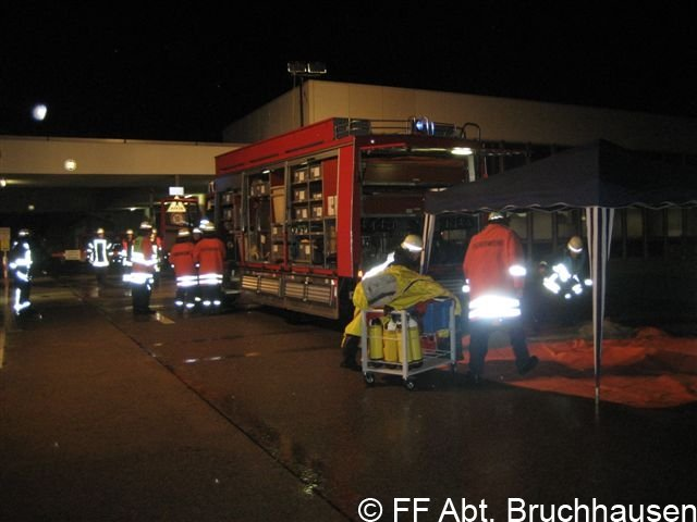 Einsatzübung Gefahrgutzug Landkreis Karlsruhe Süd