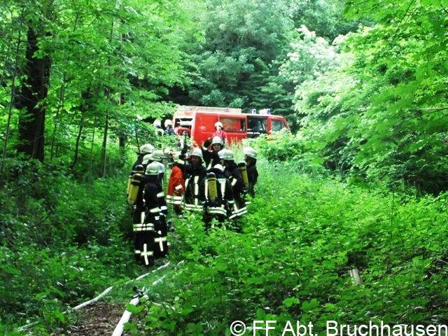 Waldbrandübung Löschzug Tal