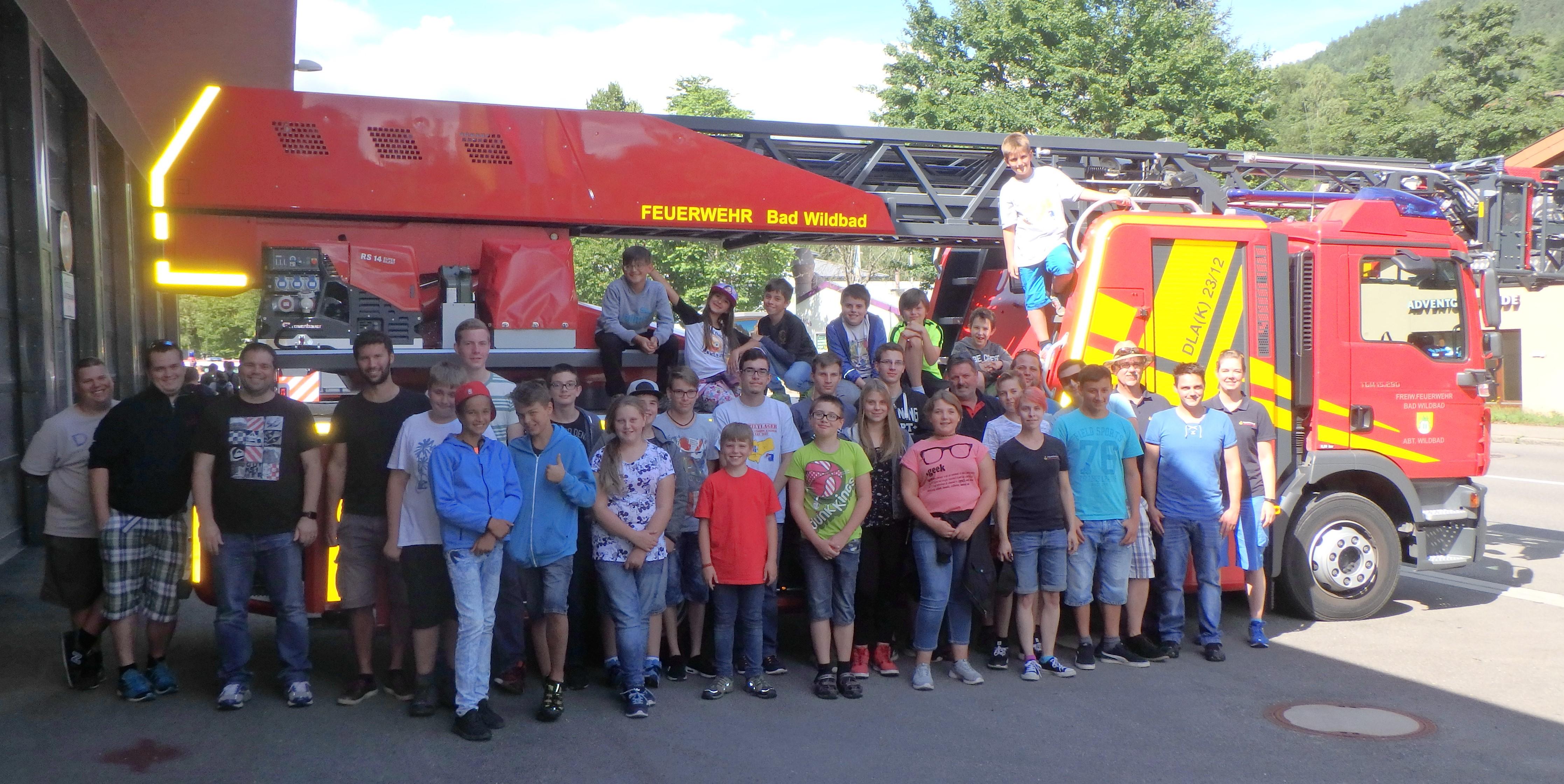 Gesamtjugendfeuerwehr Ettlingen on tour